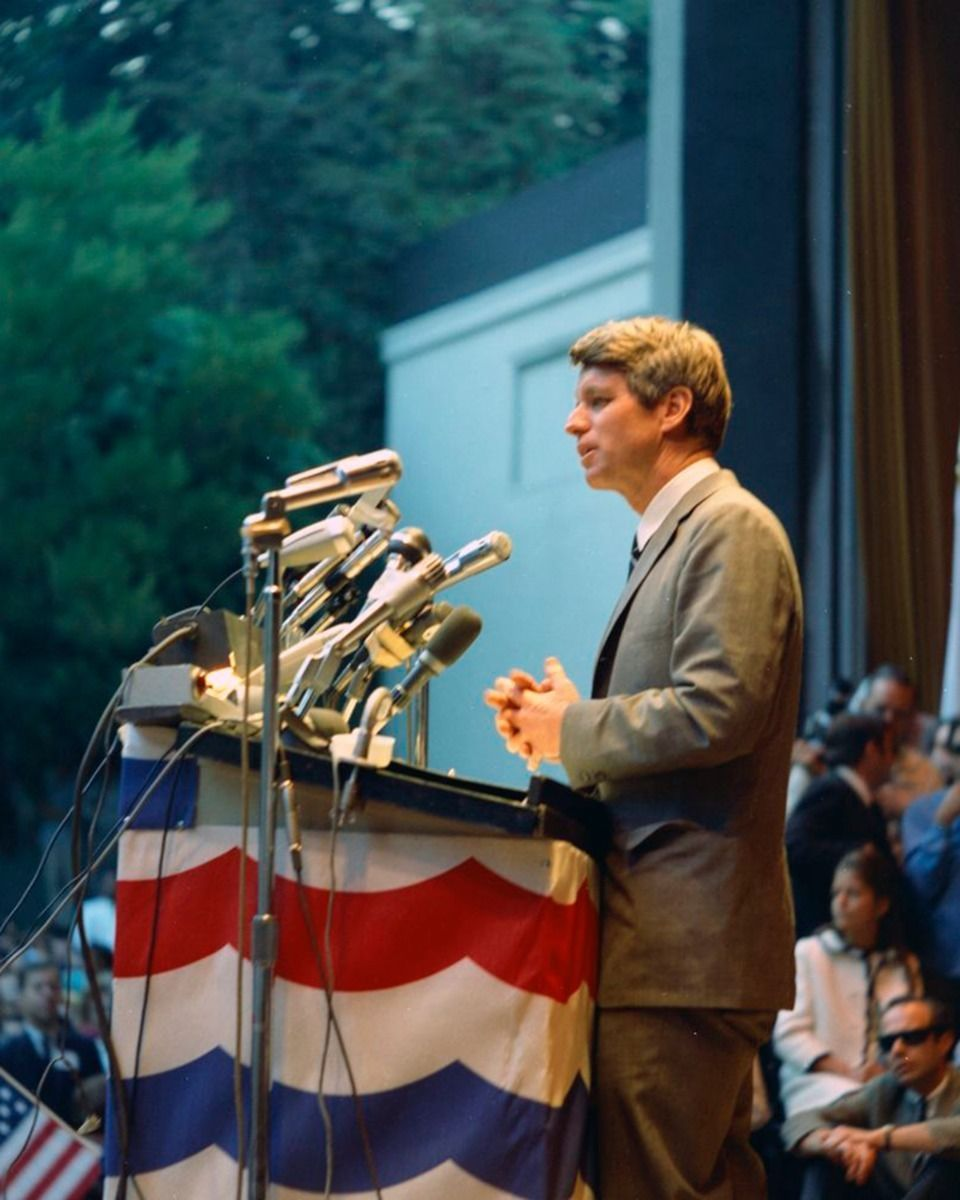 RFK - I believe this was Robert in Chicago delivering the news that ...