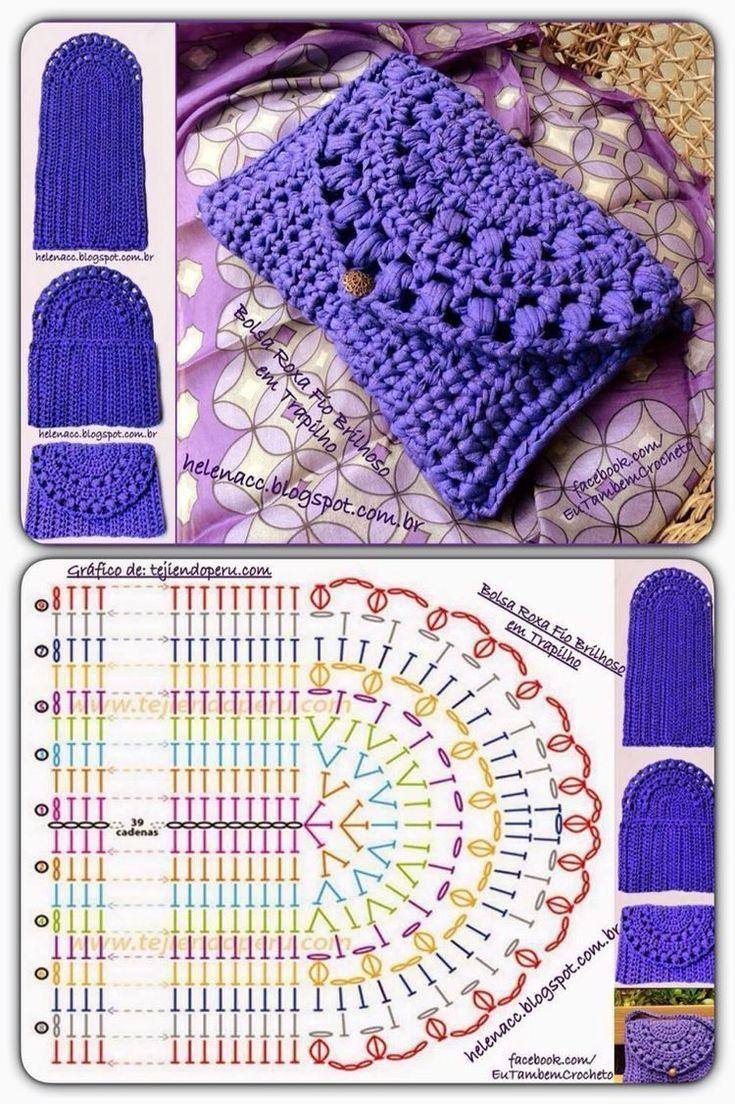 Gráficos bolsinha de crochet - #bolsinha #Crochet #de #Gráficos #wallet #crochetmandalapattern