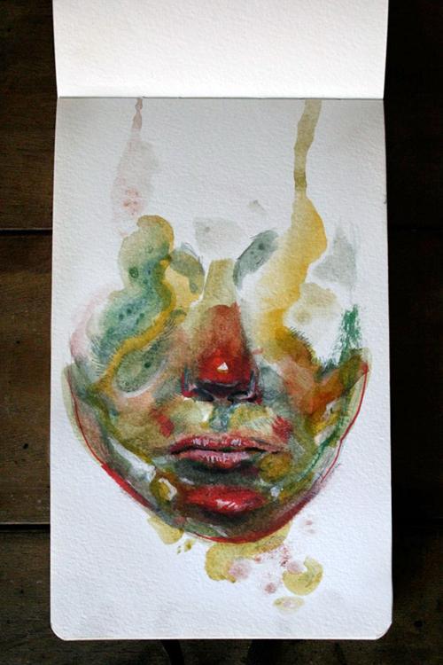 Moleskine Watercolor Notebook Sketches 2013 by Filipe Altino, via Behance