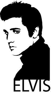 Wall Art Sticker Decal Transfer - Elvis Presley Face in Home, Furniture & DIY, DIY Materials, Wallpaper & Accessories   eBay