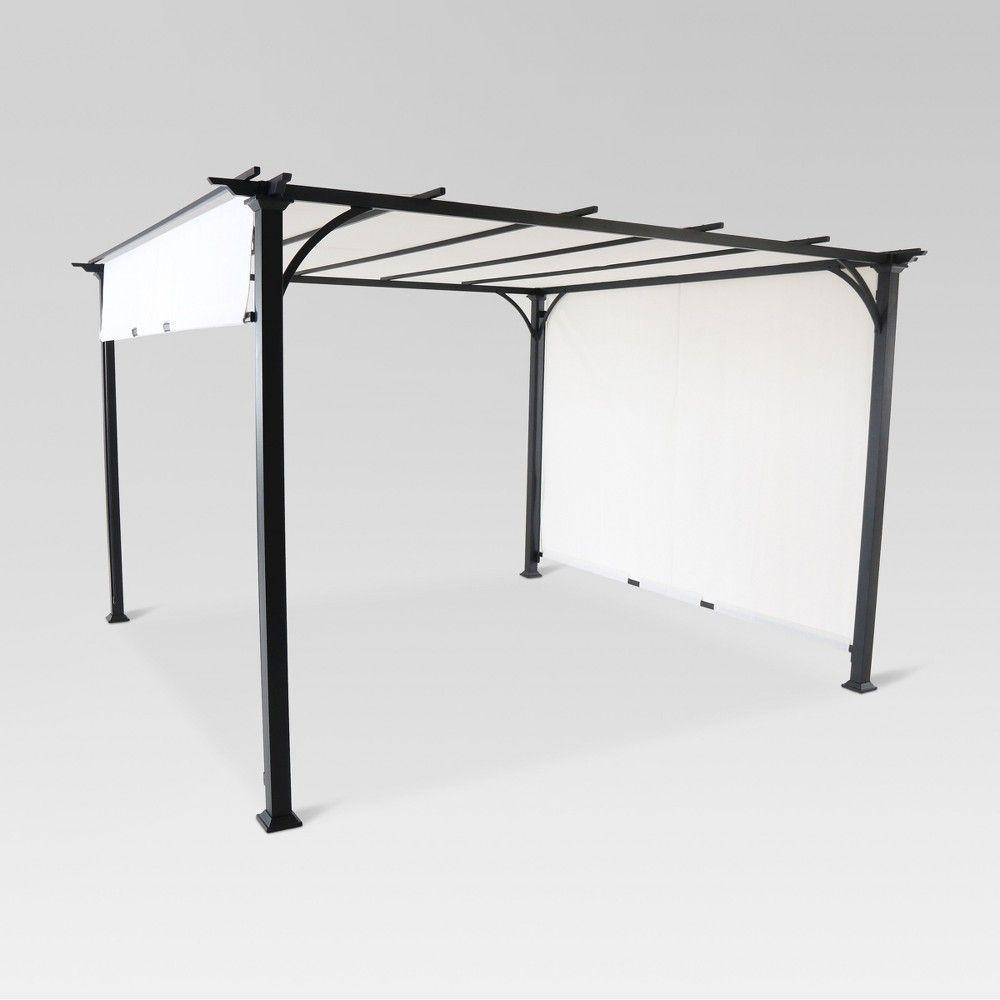 Metal Outdoor Adjustable Shade Gazebo Threshold In 2020 Pergola Shade Black Patio Furniture Outdoor Pergola