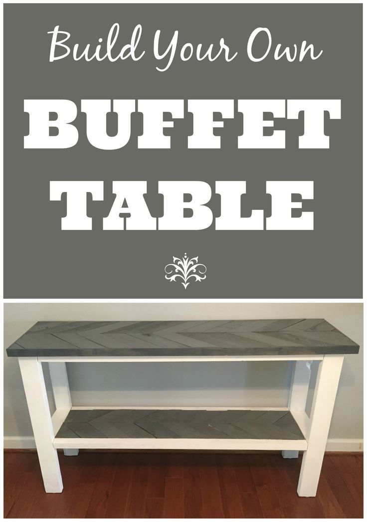 Diy Buffet Table With Herringbone Design Rustic Buffet Tables Dining Room Buffet Table Kitchen Buffet Table