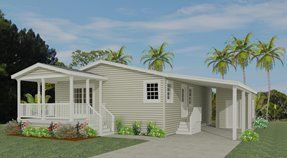 Exterior rendering of Model TNR 3364 with optional carport