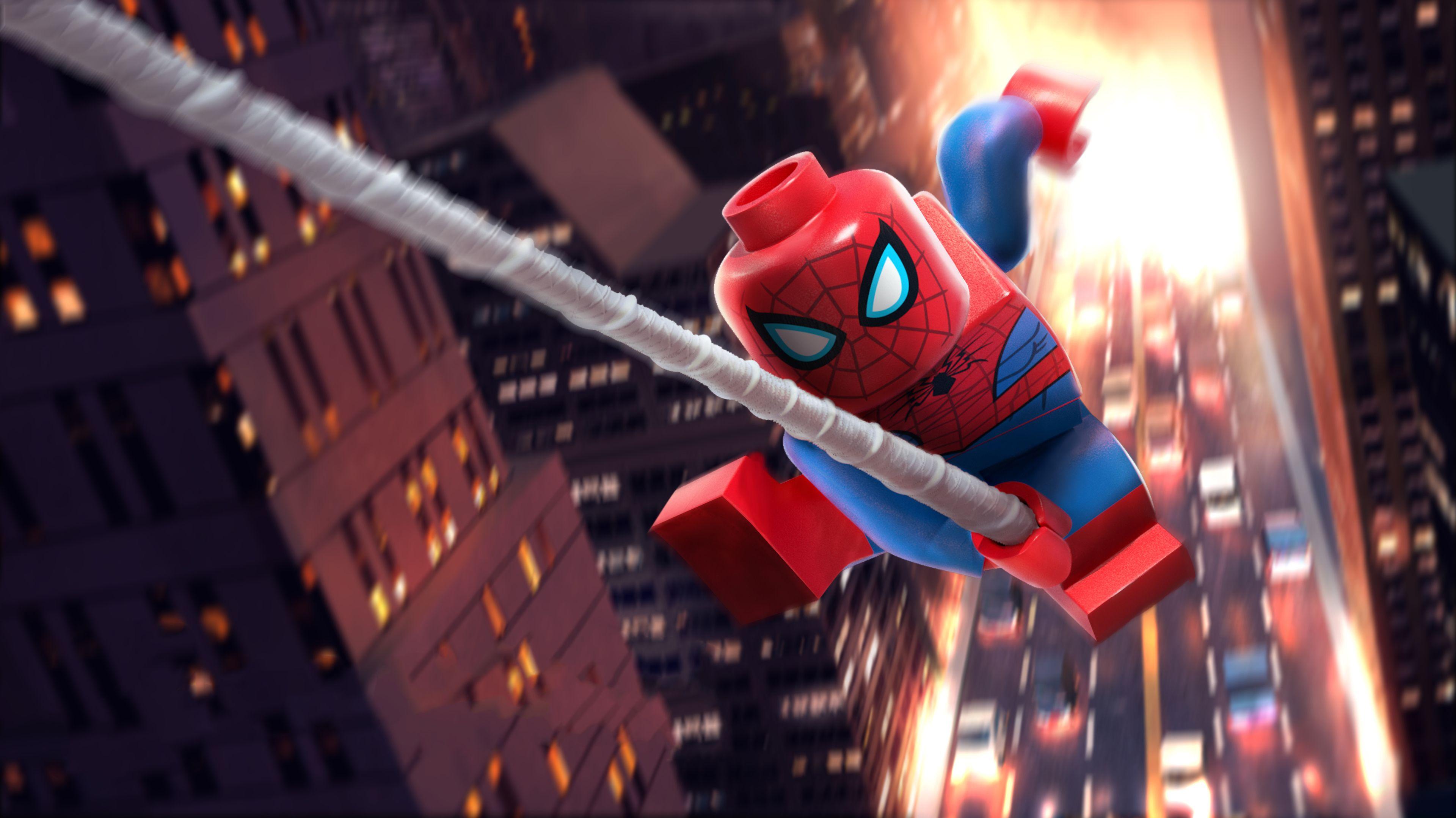 Lego Spiderman 5k Superheroes Wallpapers Spiderman Wallpapers Lego