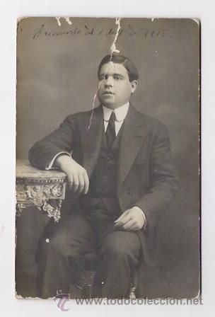 RETRATO DE 1915 FOTOGRAFO ESPLIUGAS BARCELONA