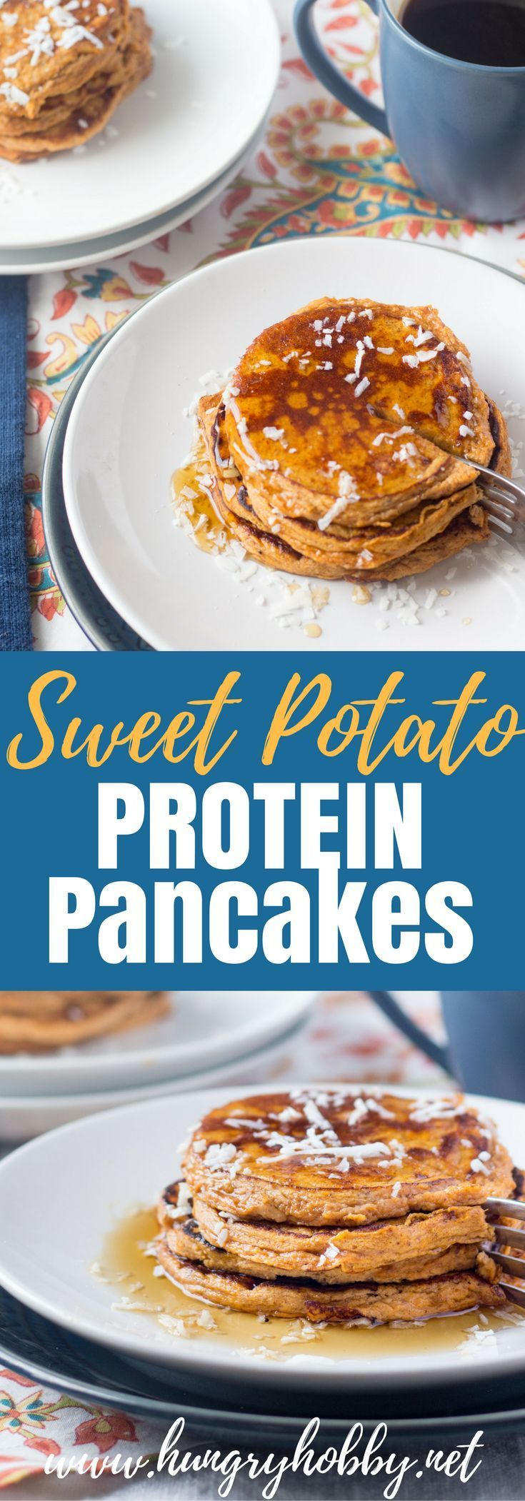 Sweet Potato Protein Pancakes For all the sweet potato lovers out there these Sweet Potato Protein Pancakes are AMAZING and gluten free! via @hungryhobby Potato Protein Pancakes For all the sweet potato lovers out there these Sweet Potato Protein Pancakes are AMAZING and gluten free!  via @hungryhobbyFor all the sweet potato lovers out there these Sweet Potato Protein Pancakes are AMAZING and gluten free!  via @hungryhobby