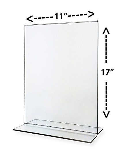 Sign Holder 11x17 Acrylic Table Top Bottom Loading Sold In Lots Of 5 Table Tents Sign Holder Display
