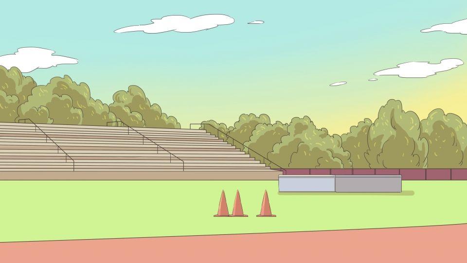 ملعب كرة قدم مرفق رياضي ملعب هيكل الخلفية Cartoon Background Stadium Wallpaper Background Banner