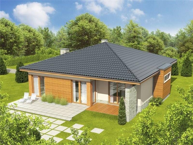 Modele deosebite de case pe un singur nivel. Trei exemple ...