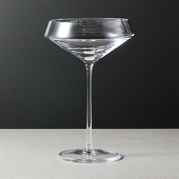 Joplin Coupe Cocktail Glass Cocktail Glass Glass Brass Pendant Light
