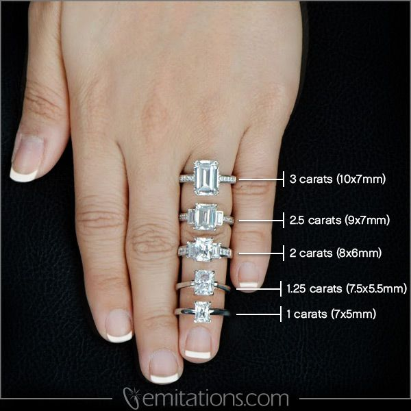 emerald cut engagement rings yahoo image search results - Emerald Cut Wedding Rings