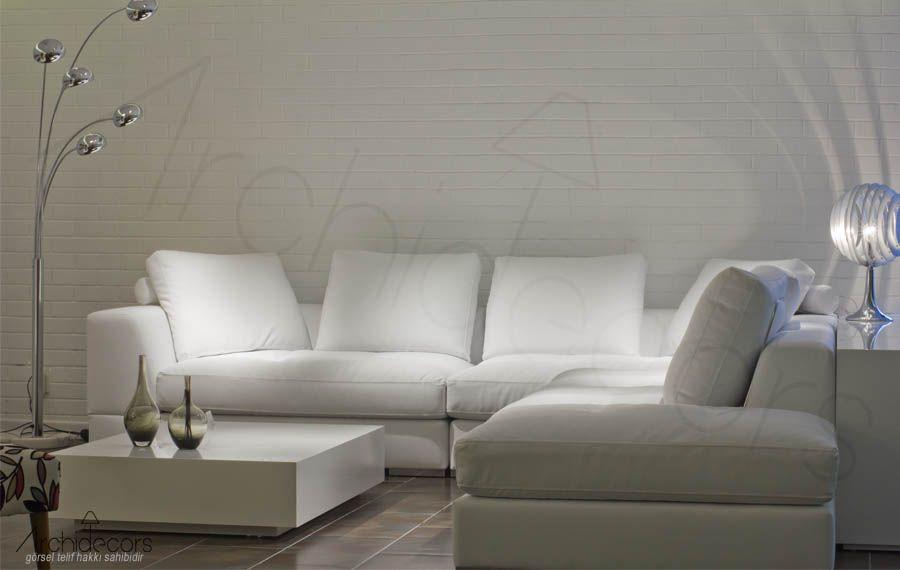 beyaz kose koltuk white nova archidecors ev icin oturma odasi fikirleri tasarim evler