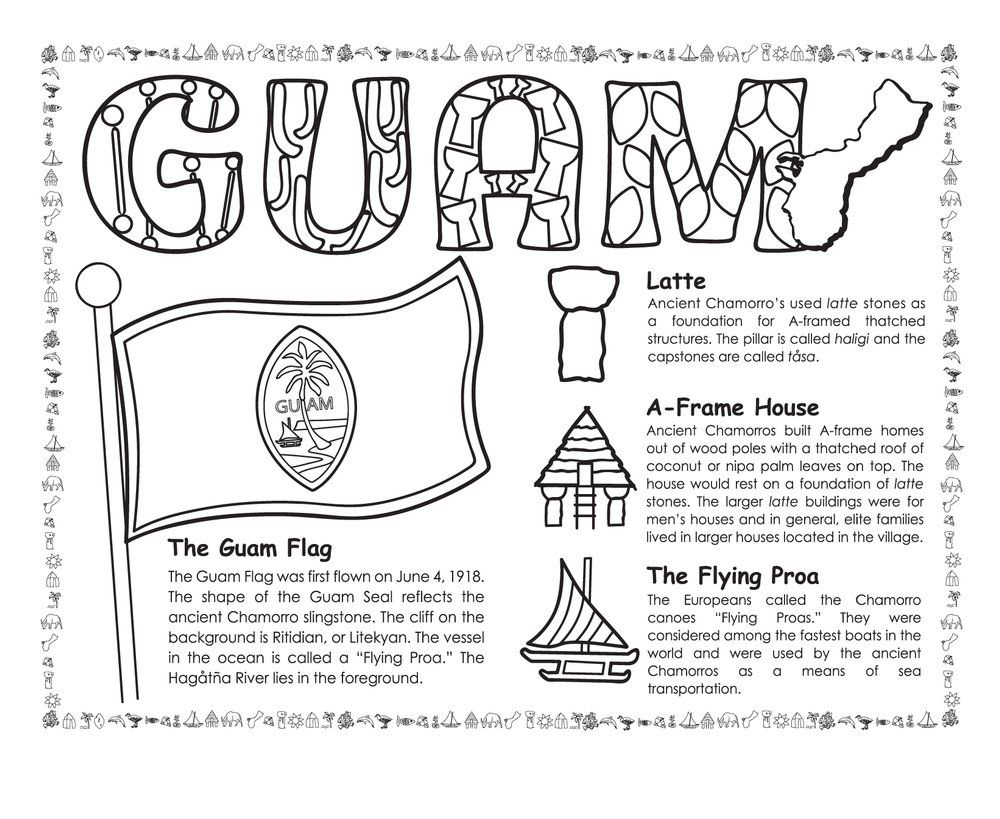 Guam Historical Coloring Book With Images Coloring Books Guam