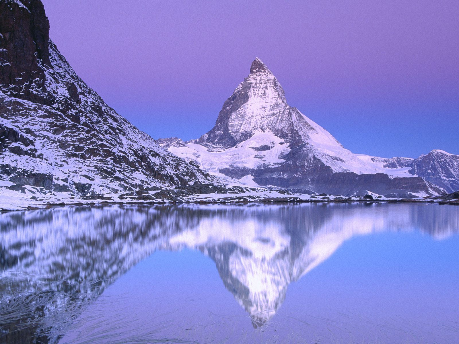 Mount Matterhorn Lake Riffelsee Switzerland Pictures