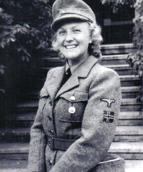Female Norwegian Volunteer Of The SS. Pin By Paolo
