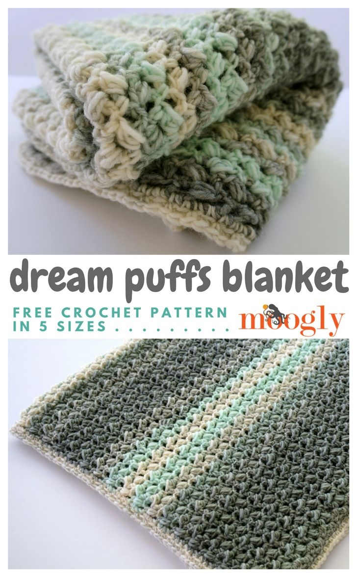 Dream Puffs Blanket - Free #Crochet Pattern on | Pinterest | Decken ...