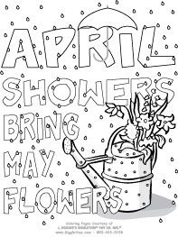 april showers printable colouring pagesspring coloring - April Coloring Pages