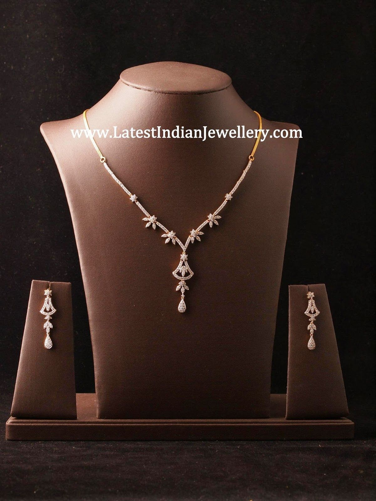 Simple diamond necklace sets daimonds pinterest diamond