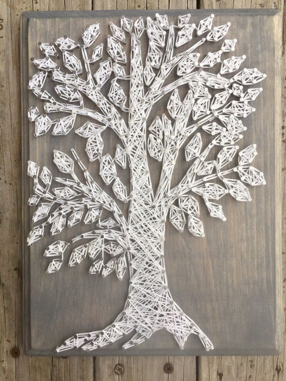 Tree String Art, Tree Gifts, Nature Gifts, Nail And String Art ...