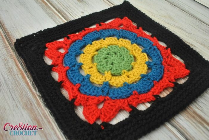 Cathedral Window 12 inch square from Creation Crochet | Aprender ...