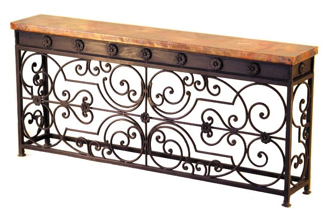 Gate Console Table Furnishings Iron