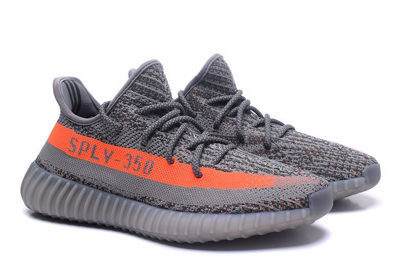Adidas Yeezy Boost 350 V2 Grey Orange Adidas sko kvinder  Adidas shoes women