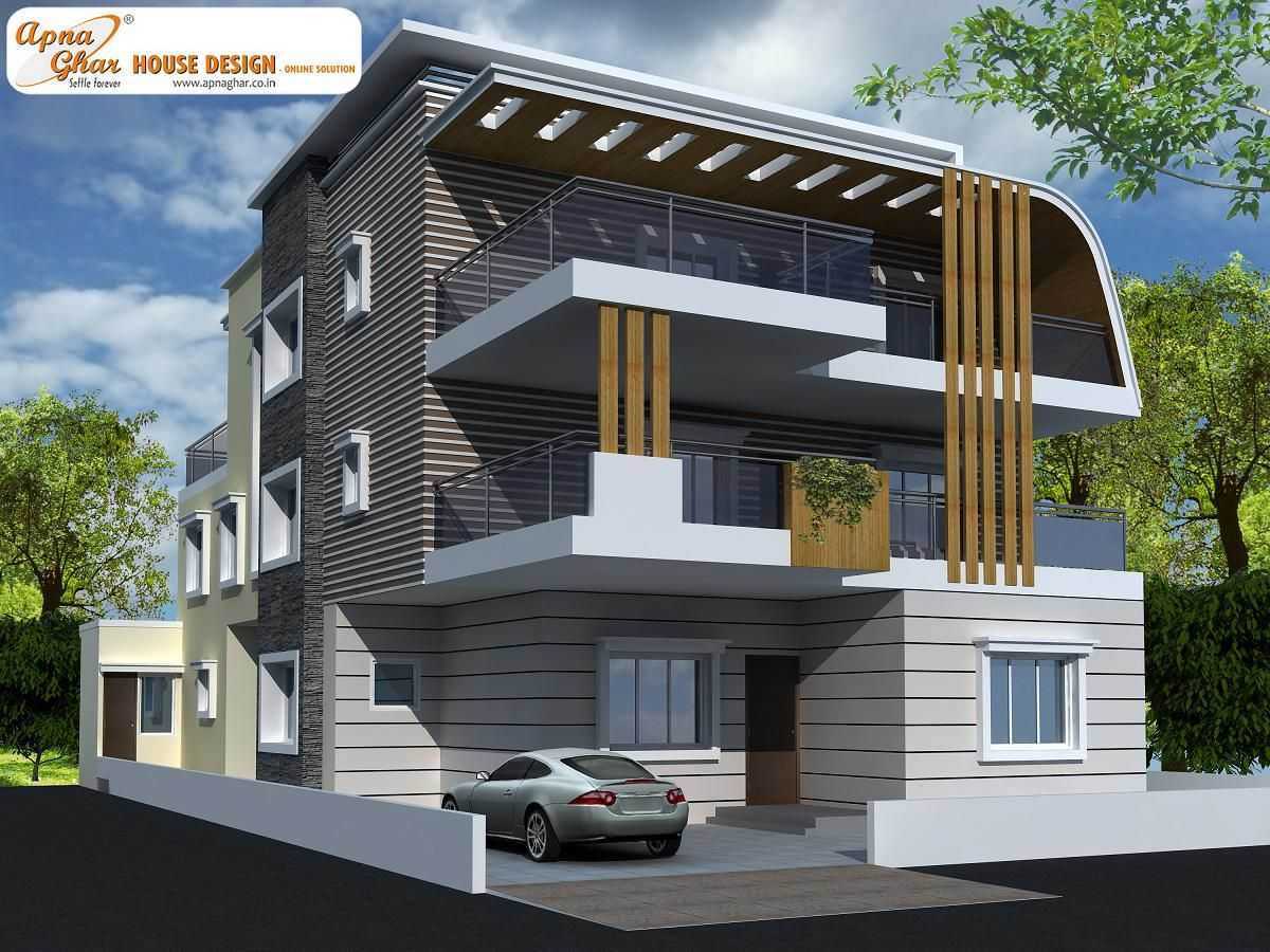 5 Bedroom Modern Triplex 3 Floor House Design Area 360m2 15m X 24m Click On This Link Http Container House Design Building Design House Front Design