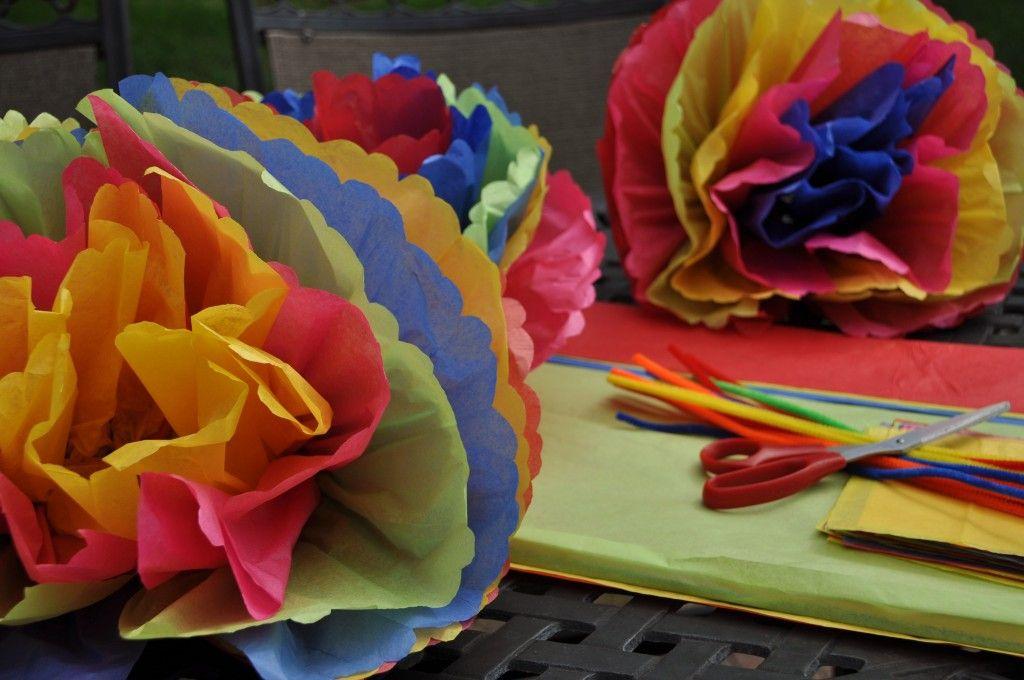 Colorful Mexican Paper Flowers Mexican Paper Flowers Tissue