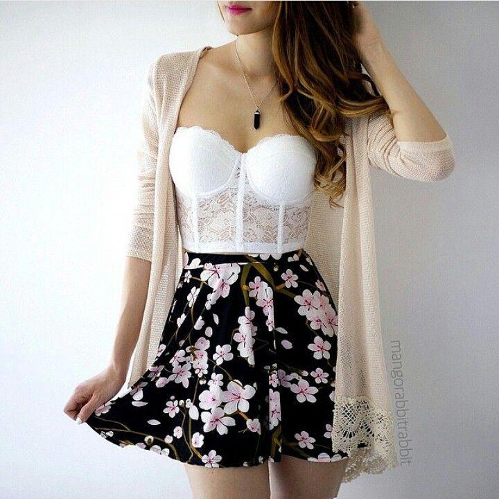 Lace & floral.