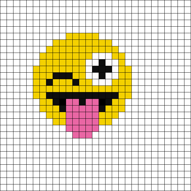 Emoji Dessin Petit Carreau Perles A Tisser Dessins Minecraft