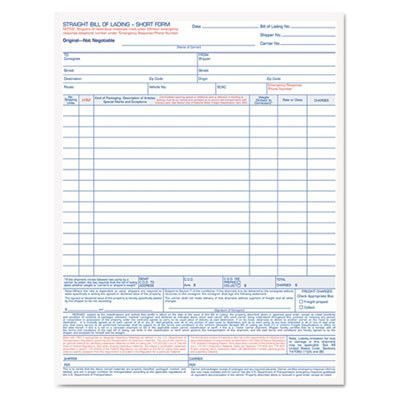 Form,bill lading,ncr,quad Tops, Products and Quad - blank bill of lading