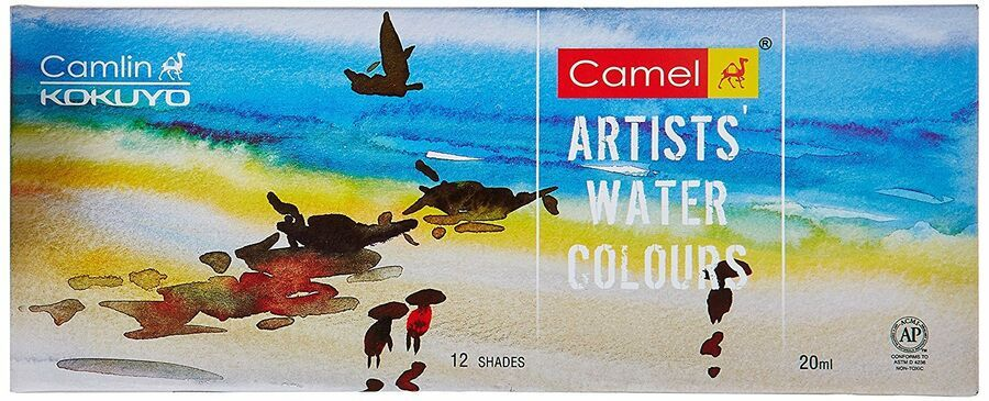 Camlin Kokuyo Artist S Water Color 20ml Tube Each 12 Shades Ad