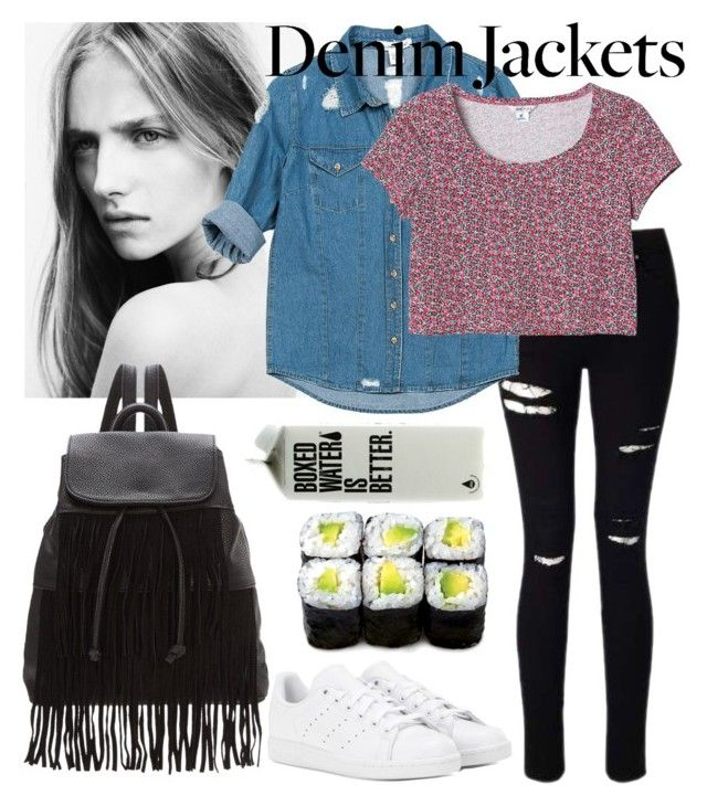 """Denim Ways"" by zidith ❤ liked on Polyvore featuring adidas, Miss Selfridge, Glamorous, Sans Souci, Monki, denimjackets and WardrobeStaples"