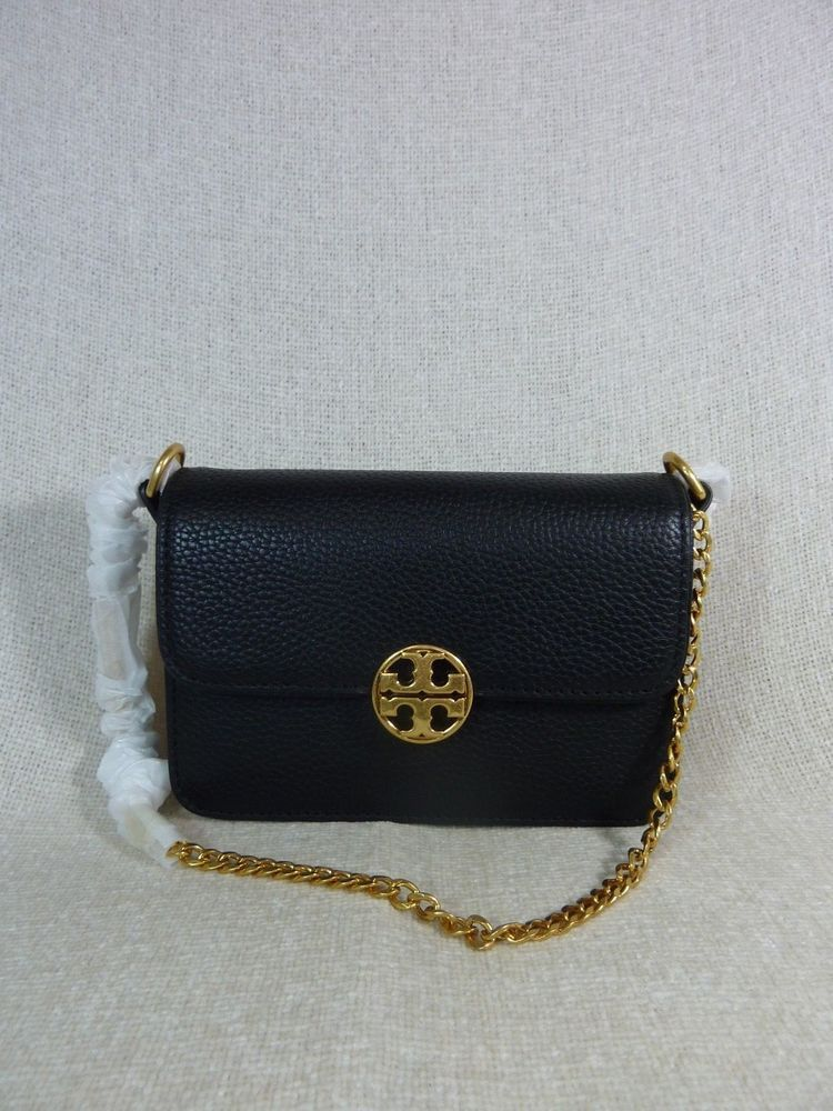 89d1a9f8551 NWT Tory Burch Black Chelsea Mini Cross Body Bag -  328  ToryBurch   Crossbody