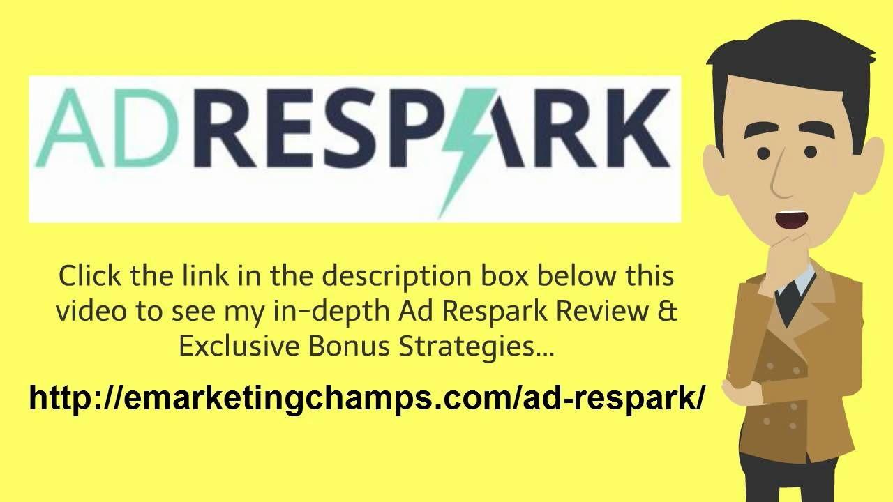 https://www.youtube.com/watch?v=Dc5YuRcEbI0 Ad Respark Review