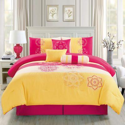 Elight Home Carlotta Comforter Set Queen Comforter Sets