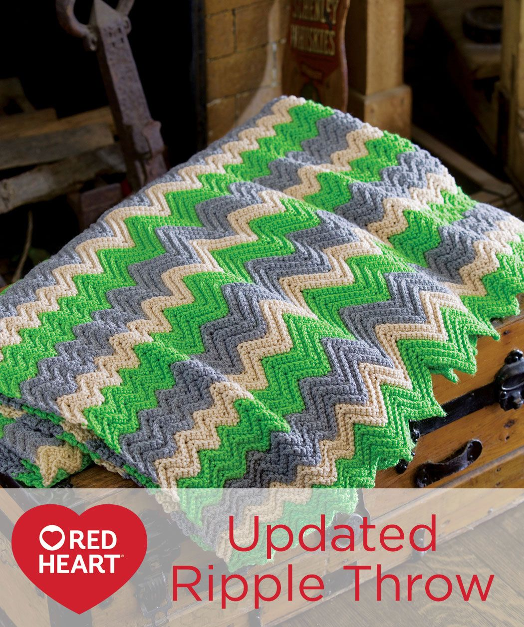 Updated Ripple Throw Free Crochet Pattern In Red Heart