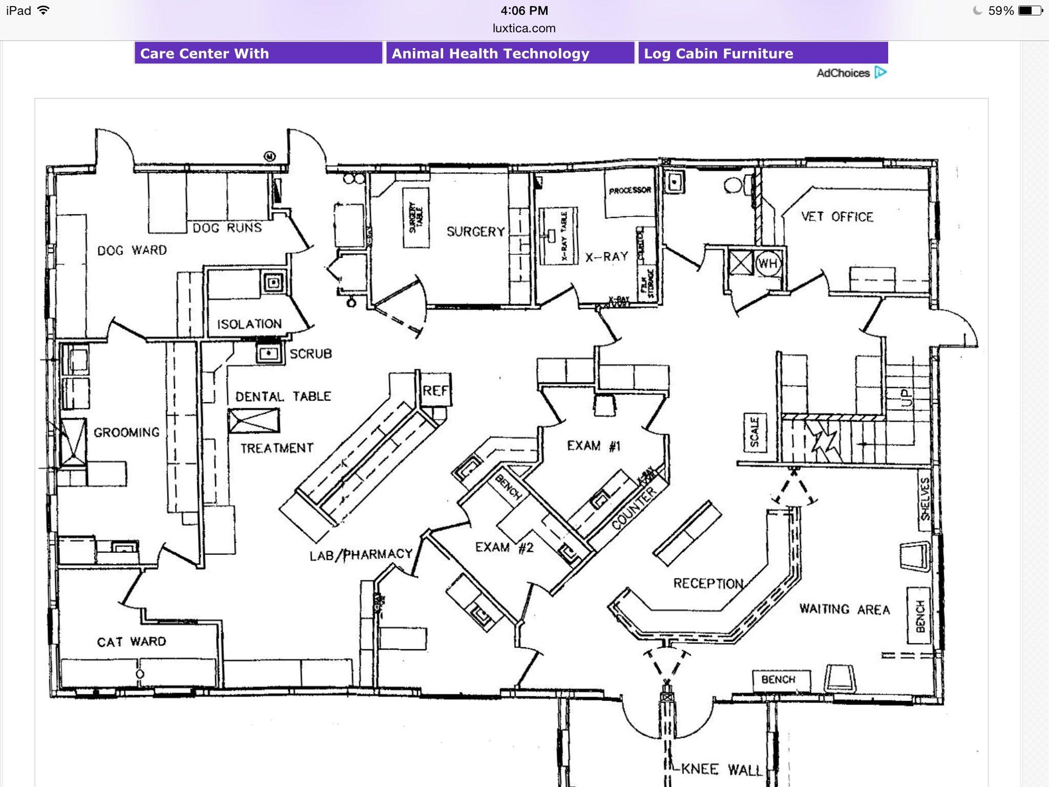 Veterinarian Office Floor Plans Small Animal Clinic Veterinarian Office Pet Clinic