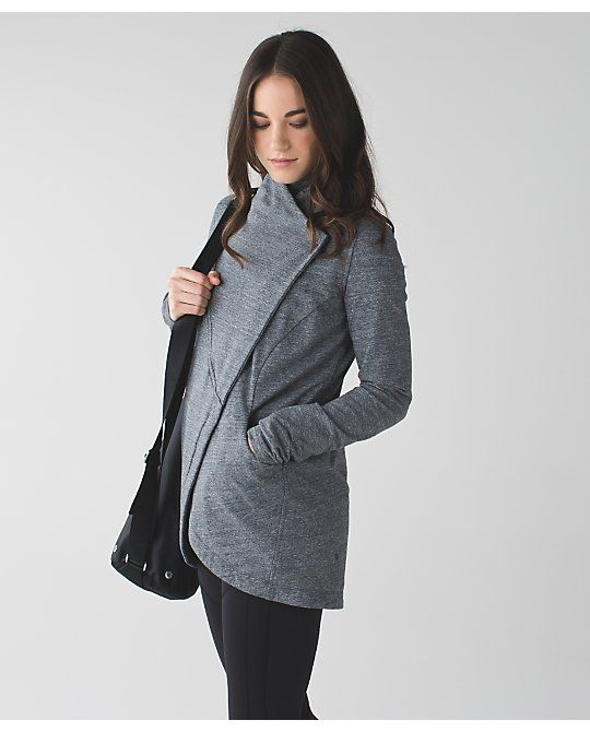 619e12fb3e That's A Wrap Wrap Sweater, Lululemon Athletica, Fitness Style, Fitness  Fashion, Fitness