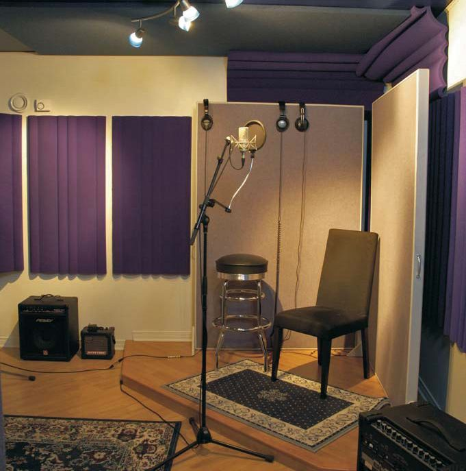 Home Recording Studio Yep Purple My Fav Color Got To Have A Place In Logcabin Done One Day Keepin Dream