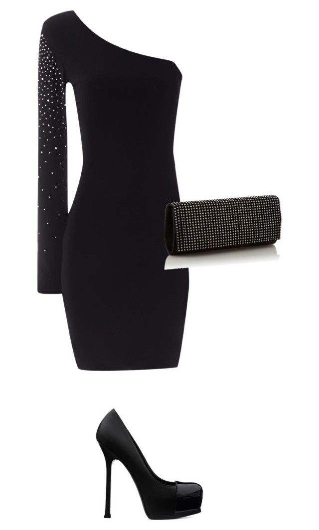 """""""Glamor"""" by thenerdist ❤ liked on Polyvore featuring Jane Norman, Call it SPRING, Yves Saint Laurent and believe"""
