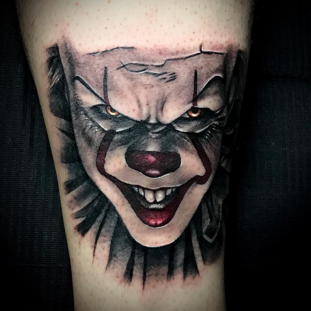 IT clown #tatuaje #tattoo #realismotattoo #ittattoo #clowntattoo #castejon #navarratattoos