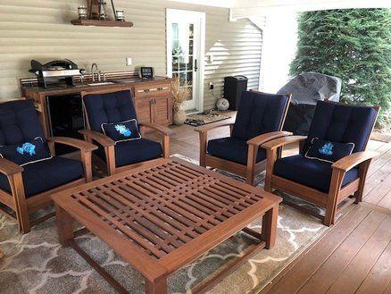 Outdoor Morris Chair Conversation Set