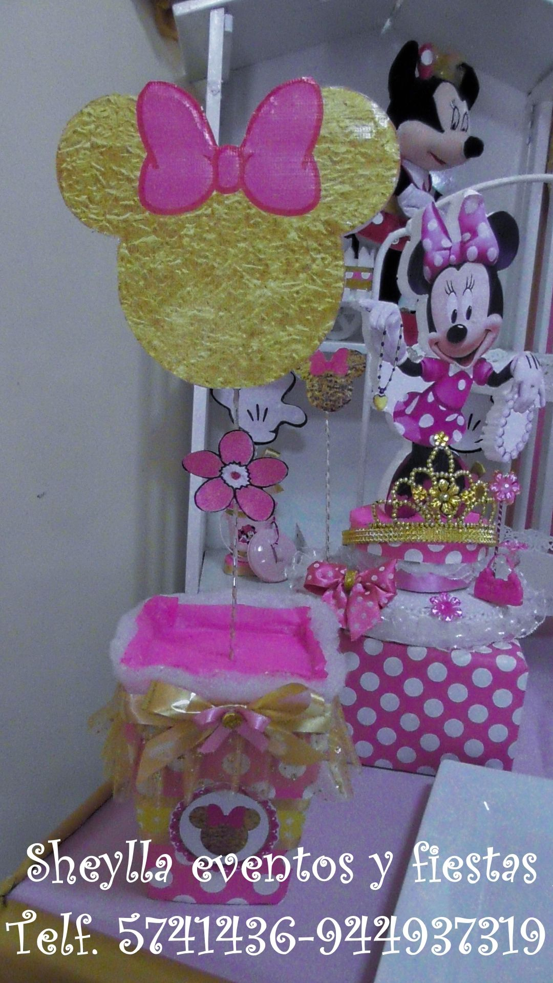 Minnie Dorada Gold Porta Paleta Decoracion Minnie