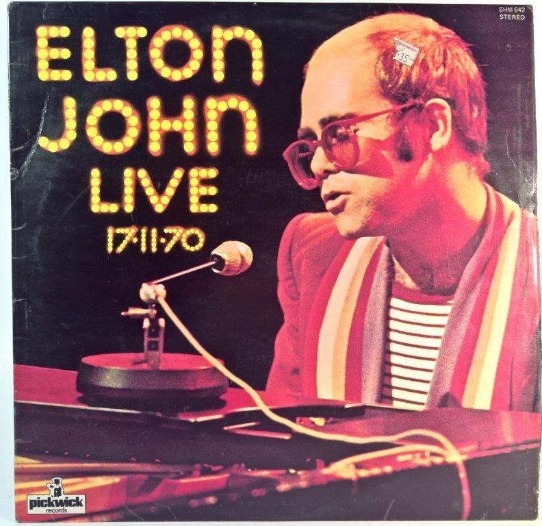 Elton John Elton John Live 17 11 70 Elton John Elton John Live Vinyl Record Shop