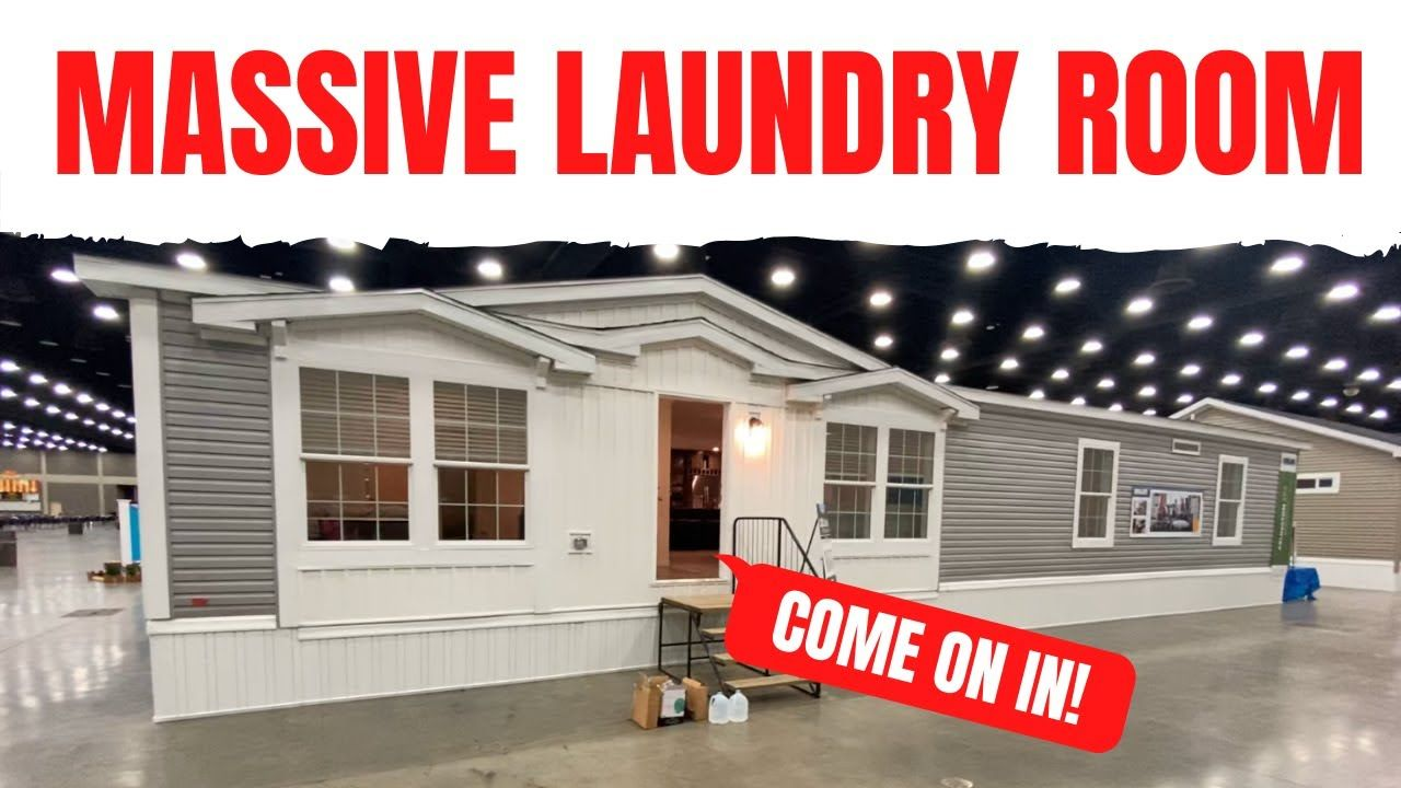 You Have To See This Home S Laundry Room It S Crazy Big Mobile Home Ma In 2020 Mobile Home Laundry Room