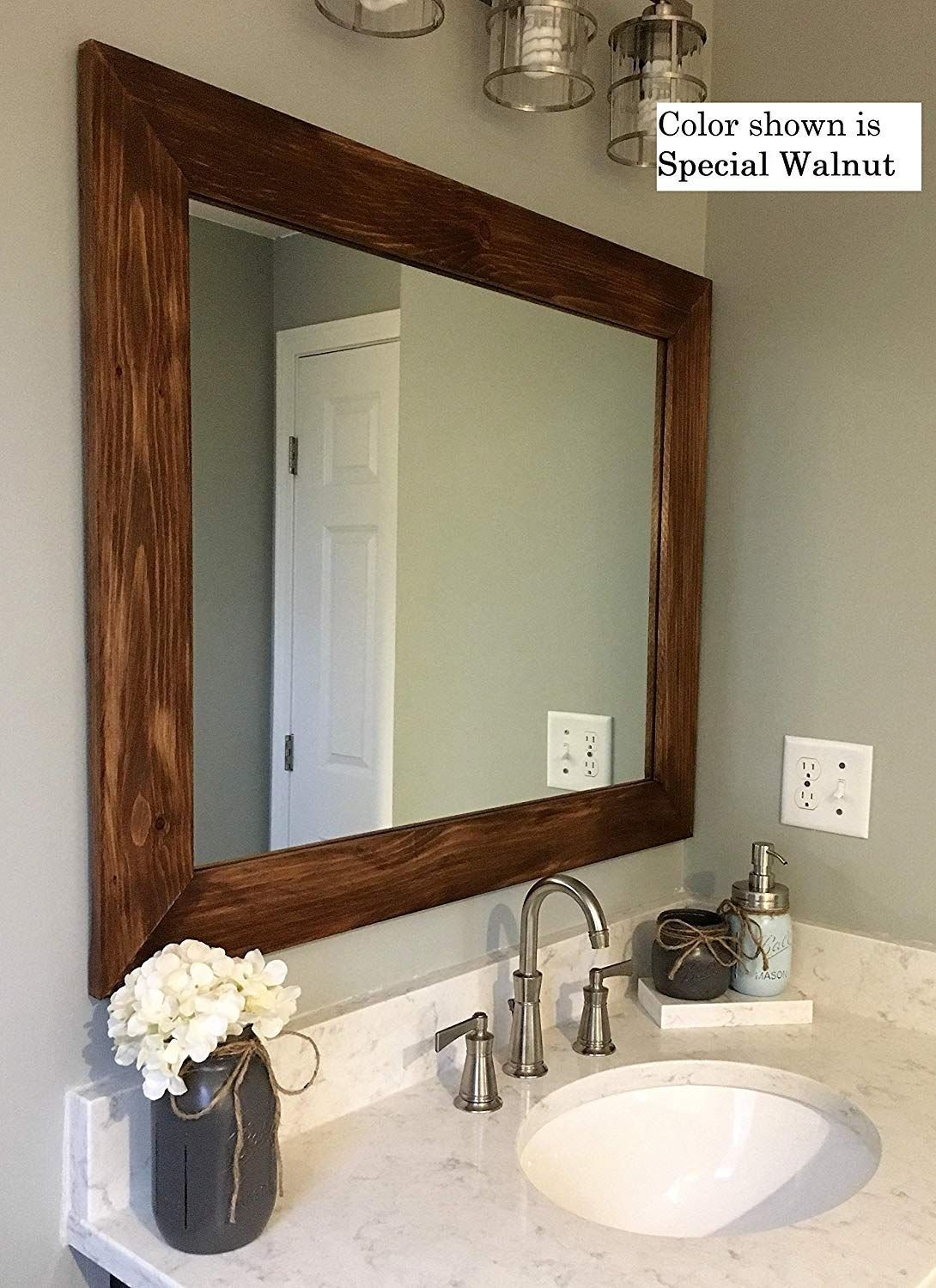 Renewed Decor Shiplap Reclaimed Wood Mirror In 20 Stain Colors Large Wall Mirror Rustic Modern Reclaimed Wood Mirror Bathroom Mirror Large Bathroom Mirrors