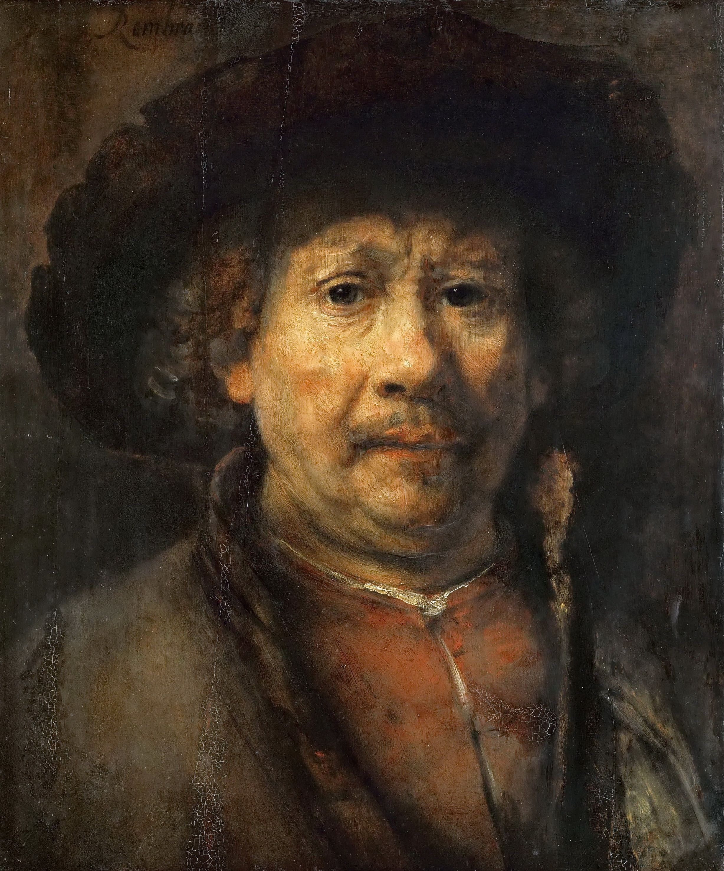 Автопортрет ок × rembrandt harmensz van rijn  harmensz van rijn rembrandt the small selfportrait fine art reproduction individual art card
