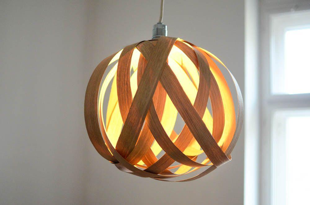 diy lampe aus eichenholzfurnier lighting pinterest leuchten lampen und bastelei. Black Bedroom Furniture Sets. Home Design Ideas