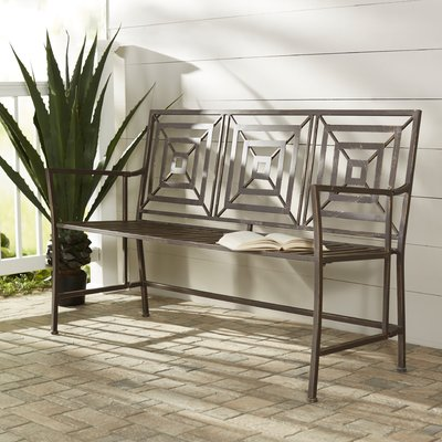 New Meadows Iron Garden Bench | AllModern